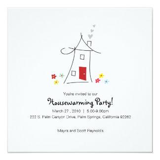 Wunderliches Housewarming-Party Quadratische 13,3 Cm Einladungskarte