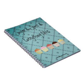 Wunderliches Kuchen-Notizbuch Notizblock
