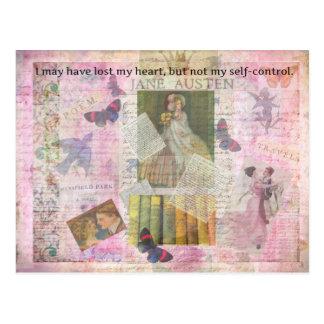 wunderliches LIEBE-Zitat Janes Austen von Emma Postkarte