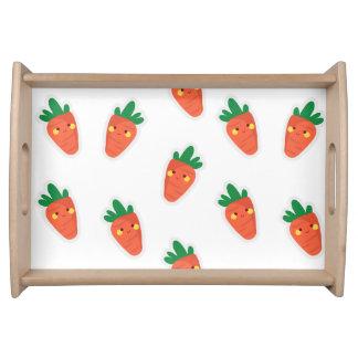 Wunderliches niedliches chibi Gemüsemuster Tablett
