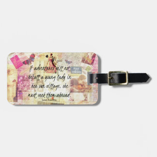 Wunderliches niedliches Reisezitat Janes Austen Kofferanhänger