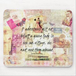 Wunderliches niedliches Reisezitat Janes Austen Mousepad