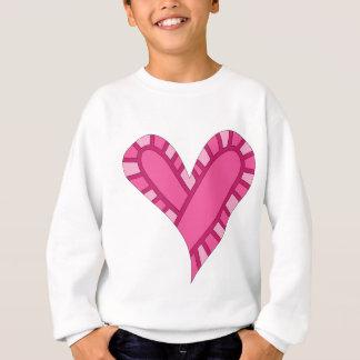 Wunderliches rosa Herzgekritzel Sweatshirt