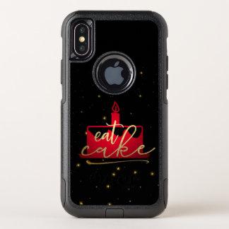 """Wunderliches Rot """"essen Sie des Kuchens"""" und OtterBox Commuter iPhone X Hülle"""