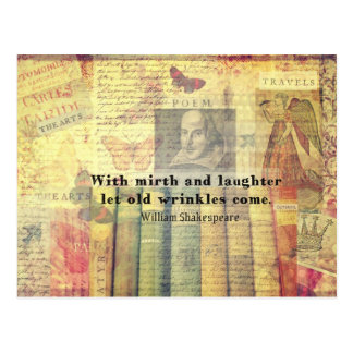 Wunderliches Shakespeare-Glückzitat Postkarte