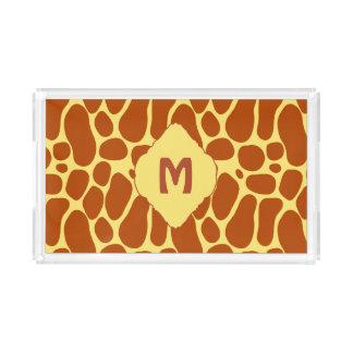 Wunderliches und wildes Giraffen-Druck-Muster Acryl Tablett