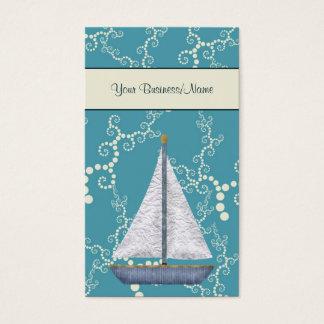 Wunderliches Wasser-SeeSegelboot Visitenkarte