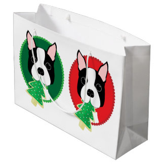 Wunderliches Weihnachten Bostons Terrier Große Geschenktüte