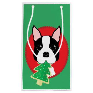 Wunderliches Weihnachten Bostons Terrier Kleine Geschenktüte