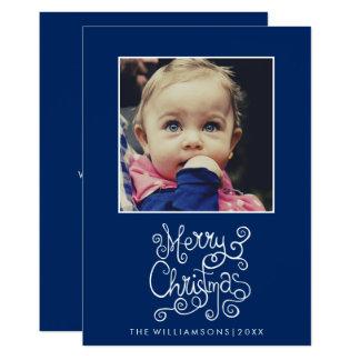 Wunderliches Weihnachtsblaues Karte