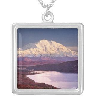 Wundern Sie sich See und Mt. Denali am Versilberte Kette