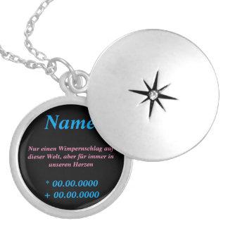 Wunderschöne Erinnerungskette Runde Medaillon Halskette