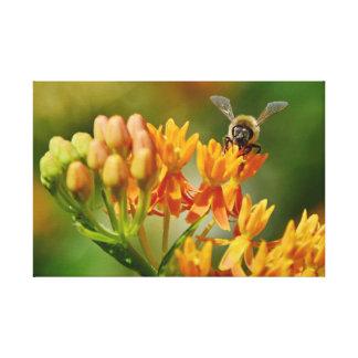 WUNDERVOLLE NATUR BILDER BEE&FLIGHT LEINWANDDRUCK