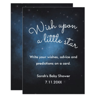 Wunsch auf einem Stern Babyparty-Zeichen Karte