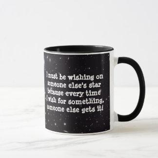 Wunsch der Stern-Tasse Tasse