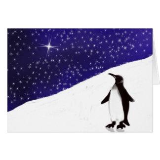 Wunsch eines Pinguins Weihnachts Karte