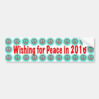 Wunsch für Frieden Autoaufkleber