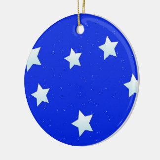 Wunsch nach einem Stern Rundes Keramik Ornament