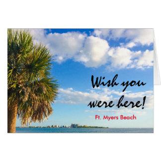 Wunsch waren Sie hier - Fort Myers Karte