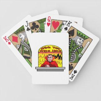 Wunsch waren Sie hier in der Hölle Bicycle Spielkarten