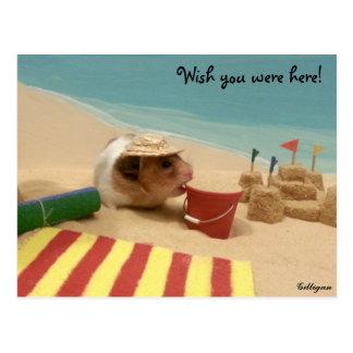 Wunsch waren Sie hier! Postkarte