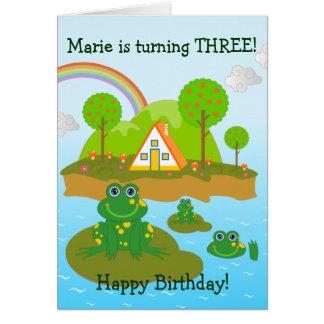 Wünsche der Frösche und alles Gute zum Geburtstag Karte