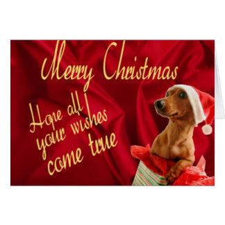 Wünsche für Weihnachten Karte