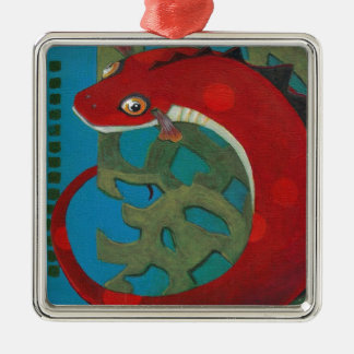 Wünschen Sie den Drachen Silbernes Ornament