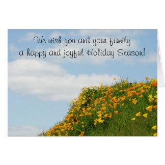 Wünschen Sie Ihnen Familie glückliche u. frohe Fer Grußkarten