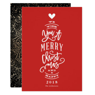 Wünschen Sie Ihnen frohe Weihnachten glückliches Karte