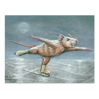 Würdevolle Ratten-Skaten-Postkarte Postkarte
