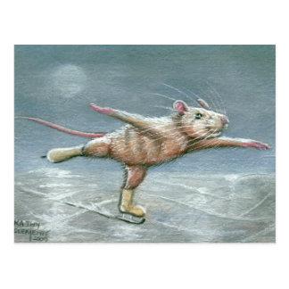 Würdevolle Ratten-Skaten-Postkarte Postkarten