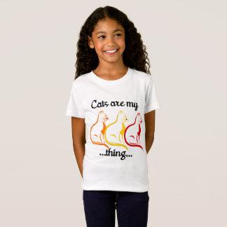 Würdevolle sitzende Kätzchen-Katzen sind meine T-Shirt