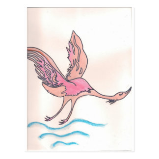 Würdevoller Flamingo Postkarte