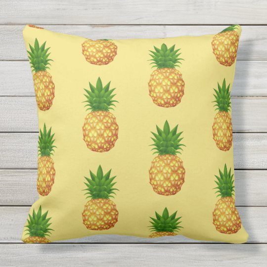 wurf kissen ananas im freien kissen f r drau en zazzle. Black Bedroom Furniture Sets. Home Design Ideas