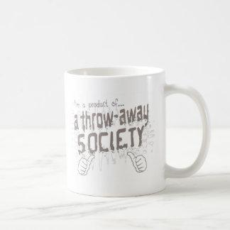 Wurf-weg Gesellschaft Kaffeetasse