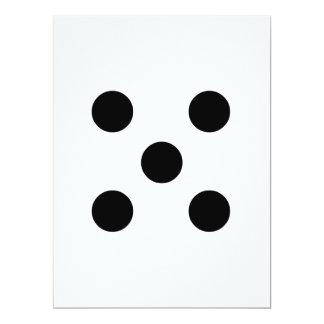 Würfel 5 16,5 x 22,2 cm einladungskarte