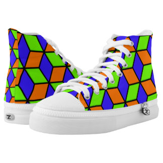 Würfel-Blick Hoch-geschnittene Sneaker