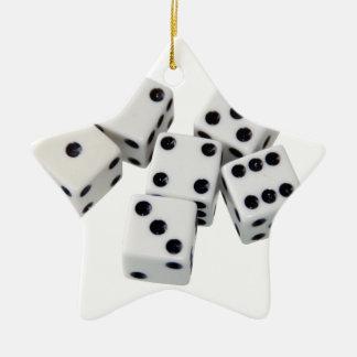 Würfel-Spiele Keramik Ornament