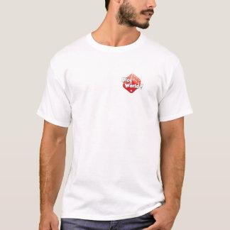 Würfel-Welt! Der grundlegende T - Shirt der Männer