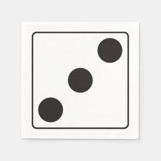 WÜRFEL-Zahlen von Zacken 3 + Ihr backgr. Servietten