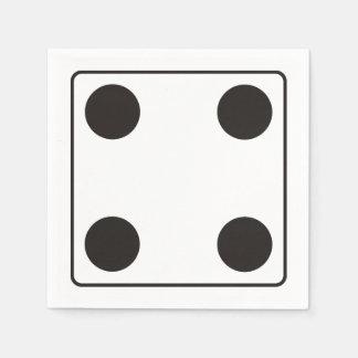 WÜRFEL-Zahlen von Zacken 4 + Ihr backgr. Papierservietten