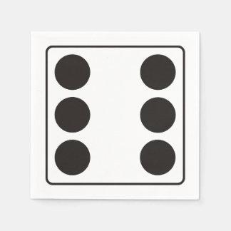 WÜRFEL-Zahlen von Zacken 6 + Ihr backgr. Papierservietten