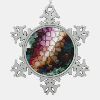 Würfel-zentraler dunkler Wind Schneeflocken Zinn-Ornament