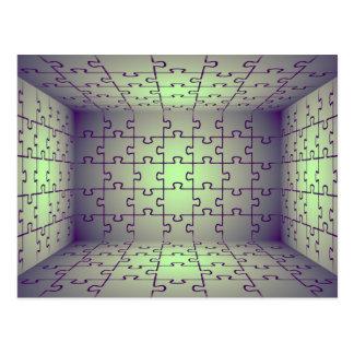 Würfelperspektive gemacht von den Puzzlespielen Postkarte