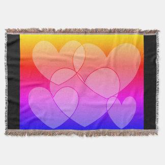 Wurfs-Decke des Regenbogen-fünf der Herz-SDL Decke