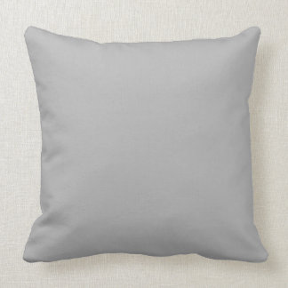 Throw Pillow Solid Gray OP1022