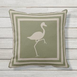 Wurfs-Kissen-geometrischer Flamingo im Freien Kissen Für Draußen