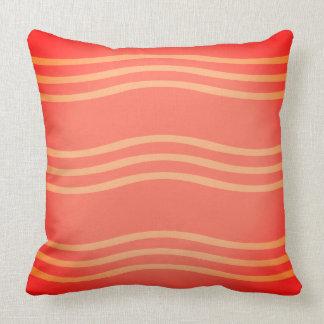 Wurfs-Kissen in den Schatten der Orange mit Wellen Kissen