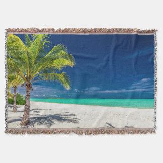 Wurfsdecke des sandigen Strandes Decke